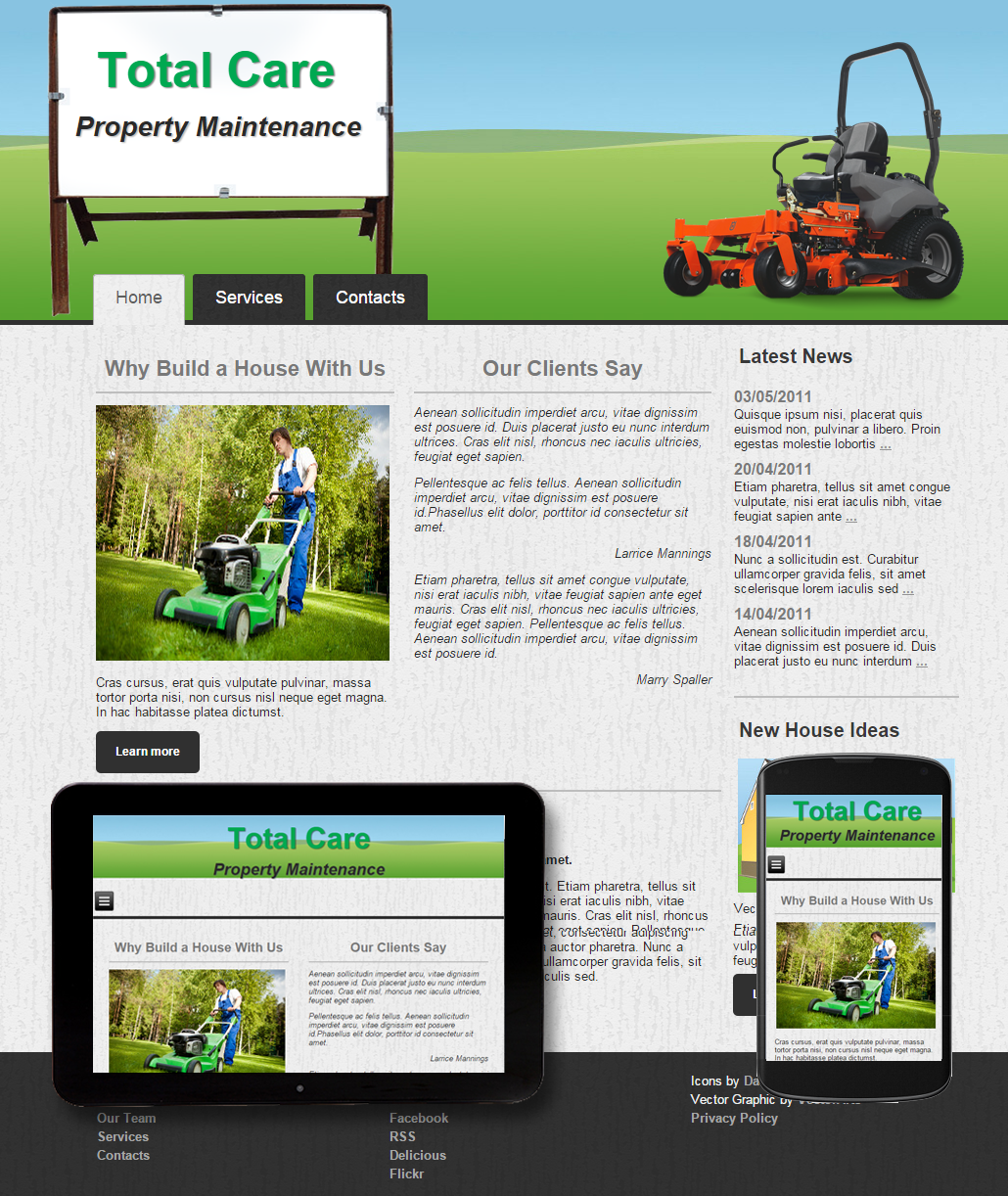 Great Template For Yard Maintenance Lawn Mowing And Tree Service Websites All Templates Are Mobile Friendly Can Be Modified To Suit Your Business